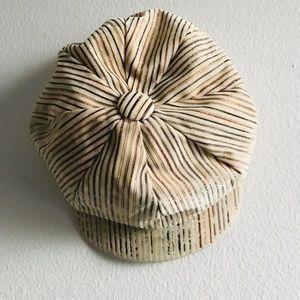 Vintage Newsboys striped  hat